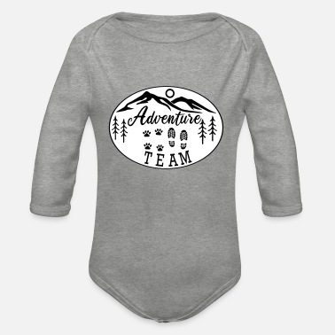 Hovawart Adventure Team dog saying dog lovers - Organic Long-Sleeved Baby Bodysuit