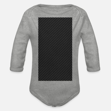 Background striped Background - Organic Long-Sleeved Baby Bodysuit