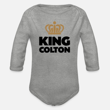 Colton King colton name thing crown - Organic Long-Sleeved Baby Bodysuit
