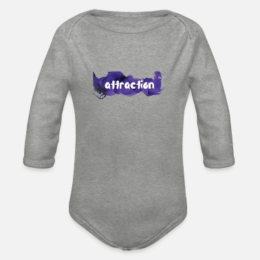 Attractive attraction attraction - Organic Long-Sleeved Baby Bodysuit