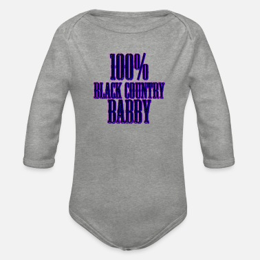 Country 100% Black Country Babby - Organic Long-Sleeved Baby Bodysuit