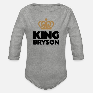 Bryson King bryson name thing crown - Organic Long-Sleeved Baby Bodysuit