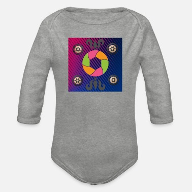 Bright Colours Bright colour - Organic Long-Sleeved Baby Bodysuit