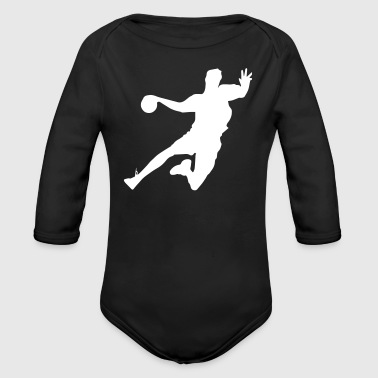 Handball Player - Baby Bio-Langarm-Body
