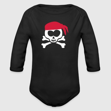 little_pirate_skull_092014_b_2c - Baby Bio-Langarm-Body