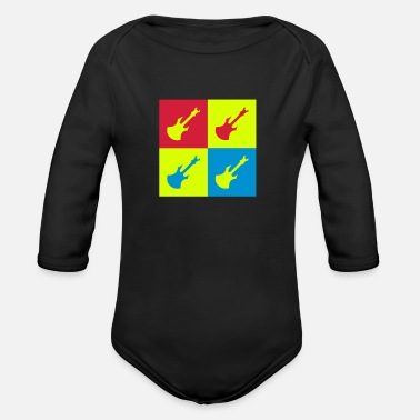 Rock N Roll Rock - Music - Metal - Punk - Rocker - Alcohol - Organic Longsleeve Baby Bodysuit