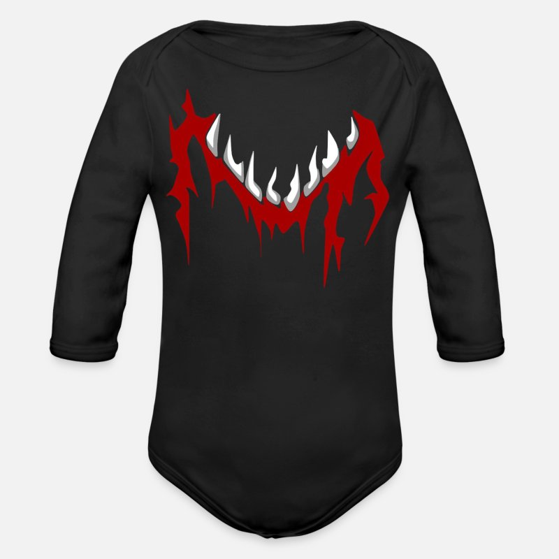 Baby Baby Clothing - Demon Finn Balor Baby Grow - Longsleeved-Sleeved Baby Bodysuit black