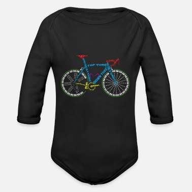 Glass Underwear Bicycle anatomy for bike and cycling lovers - Organic Long-Sleeved Baby Bodysuit