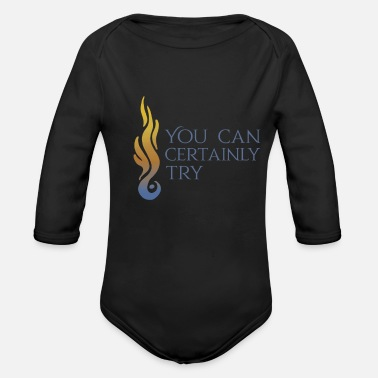 Cosplay flame dragon - Organic Long-Sleeved Baby Bodysuit