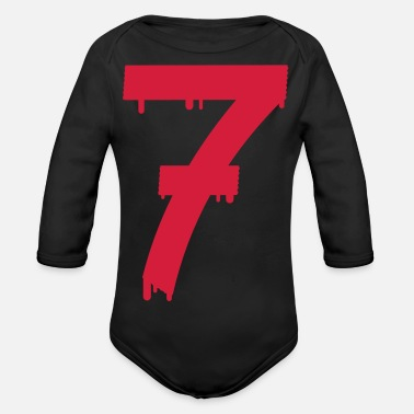 Lucky Number lucky number seven - Organic Long-Sleeved Baby Bodysuit
