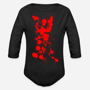 Bloodstain bloodstains - Organic Long-Sleeved Baby Bodysuit