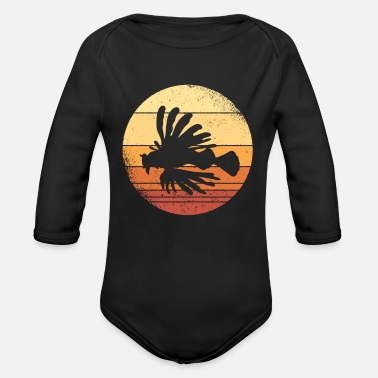 Dragon Head Lionfish Lionfish Coral Reef Graphic - Organic Long-Sleeved Baby Bodysuit