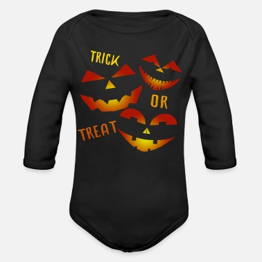 Trick Or Treating Trick or Treat Trick or treat - Organic Long-Sleeved Baby Bodysuit