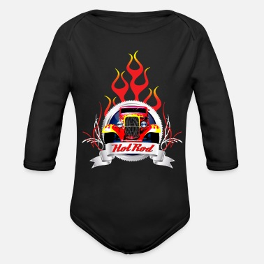 Pinstriping Hot rod - Organic Long-Sleeved Baby Bodysuit