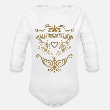 Ride Bike Ride a bike - Organic Long-Sleeved Baby Bodysuit