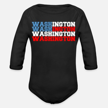 Washington Washington - Organic Long-Sleeved Baby Bodysuit