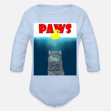 Paw Paws - Paws - - Organic Long-Sleeved Baby Bodysuit