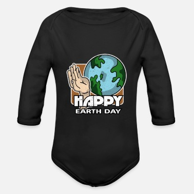 Earth Day Earth Day - Earth Day - Organic Long-Sleeved Baby Bodysuit