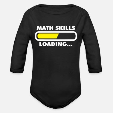 Mathematics Pupils learn streber - Organic Long-Sleeved Baby Bodysuit