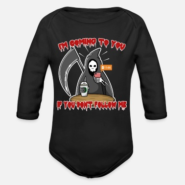 Social Network Follow Social Network Death - Organic Long-Sleeved Baby Bodysuit