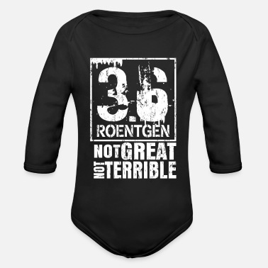 Nuclear Disaster Chernobyl environmental disaster - Organic Long-Sleeved Baby Bodysuit