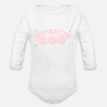 Jens Nickel Bowling ball I fun in the bowling center I gift - Organic Long-Sleeved Baby Bodysuit