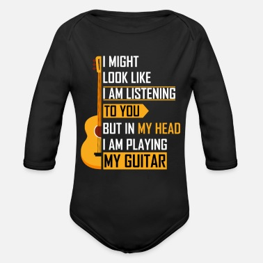 Guitar Player Guitar guitar player gift - Organic Long-Sleeved Baby Bodysuit
