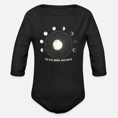 Occult To the moon and back phases of the moon - Organic Long-Sleeved Baby Bodysuit