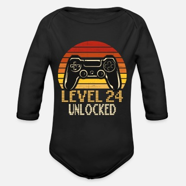 Awesom Since Level 24 Unlocked - 24. Geburtstag Gamer Geschenk - Baby Bio Langarmbody