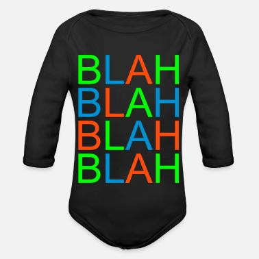 Word Comedy Party blah blah - Organic Long-Sleeved Baby Bodysuit