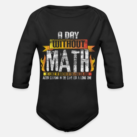Professor Baby Clothes - Math gift idea - Organic Long-Sleeved Baby Bodysuit black