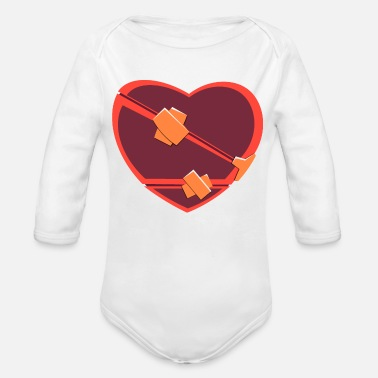 Heartache Heart // Heartbreaker // Love // Heartache - Organic Long-Sleeved Baby Bodysuit