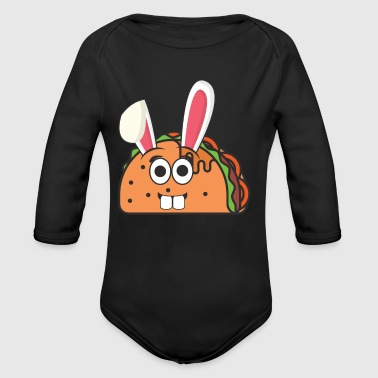 Taco Mexico Mexican Easter Bunny Easter Gift - Organic Longsleeve Baby Bodysuit