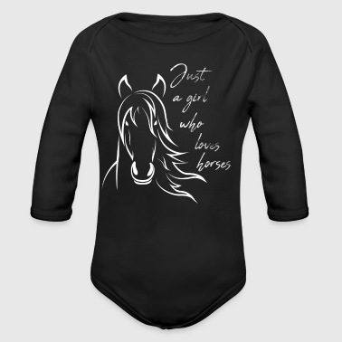 Cute Horses Riding Ride Horse Lover - Baby Bio-Langarm-Body