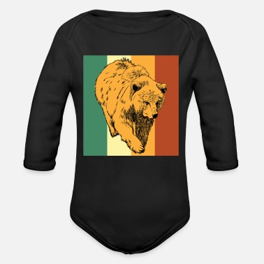 Brown Bear Bear bear brown bear - Organic Longsleeve Baby Bodysuit