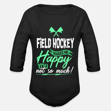 Field Hockey Field Hockey - Field Hockey - Organic Longsleeve Baby Bodysuit