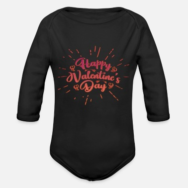 Valentines Day Valentines Day - Organic Long-Sleeved Baby Bodysuit