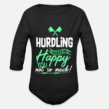 Hurdle hurdles - Organic Long-Sleeved Baby Bodysuit