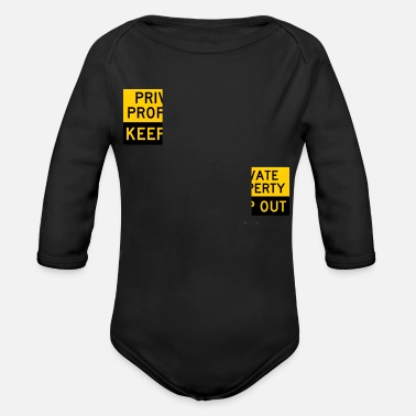 Privateer Private Property - Organic Long-Sleeved Baby Bodysuit