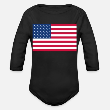 Stars And Stripes Stars and Stripes - Organic Long-Sleeved Baby Bodysuit