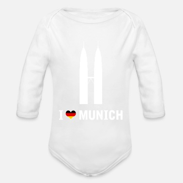 Munich I love Munich Spaß-Shirt - Baby Bio Langarmbody