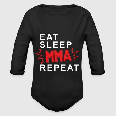Eat Sleep MMA Repeat - Body ecologico per neonato a manica lunga