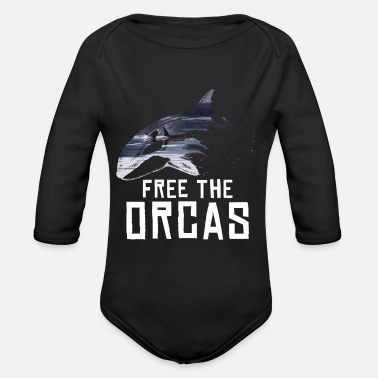 Save The Whales Save the whale sushi whaling dolphin ocean sea - Organic Long-Sleeved Baby Bodysuit