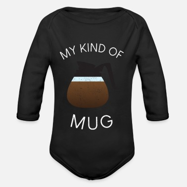 Pot Coffee pot | Coffee | coffee pot - Organic Longsleeve Baby Bodysuit