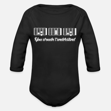 Music Guitar guitarist musical instrument music notes - Organic Longsleeve Baby Bodysuit