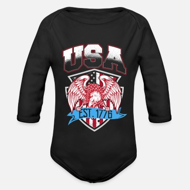 Established USA Established 1776 - Organic Long-Sleeved Baby Bodysuit