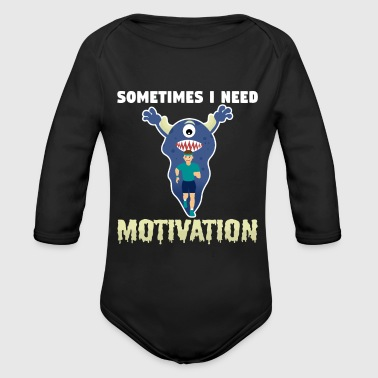 Motivation motivation - Ekologisk långärmad babybody