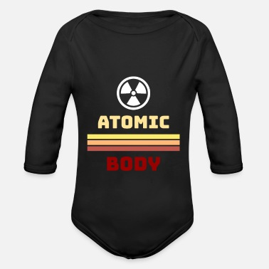 Atom Atomic atom body - Organic Long-Sleeved Baby Bodysuit