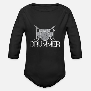 Band Drummer Band - Organic Long-Sleeved Baby Bodysuit