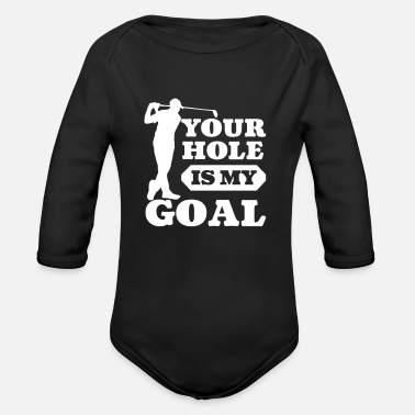Bucare Golf Joke Your Hole è il mio Goal Joke Gift - Body a manica lunga per neonati